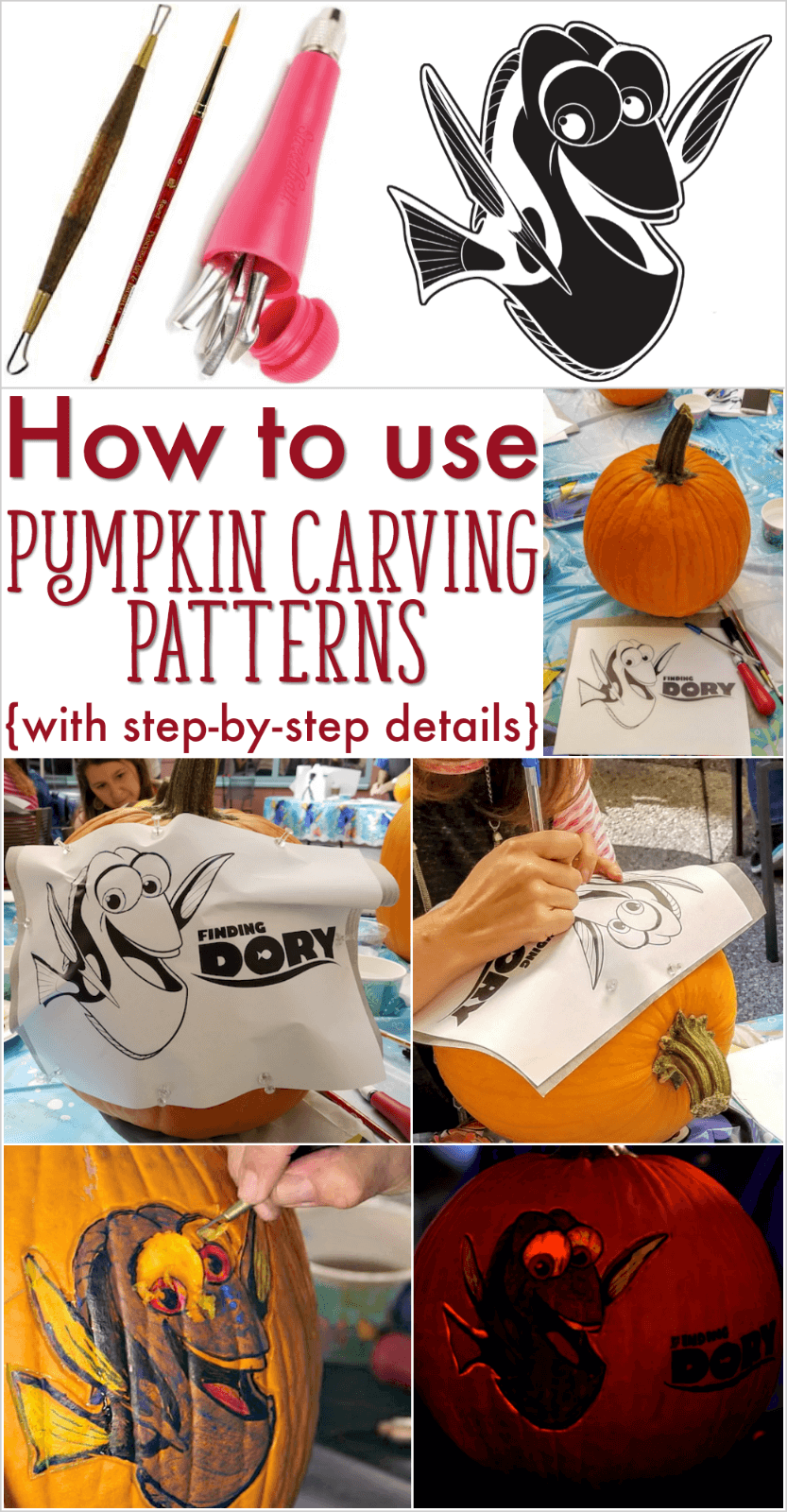 how to use pumpkin stencils