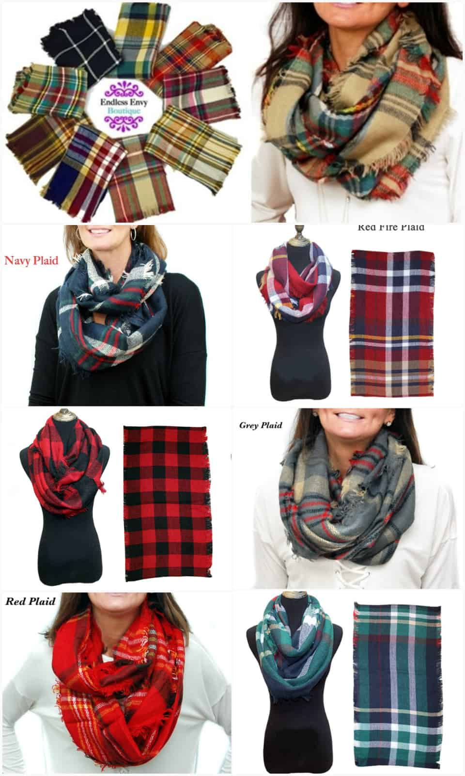 plaid infinity blanket scarf