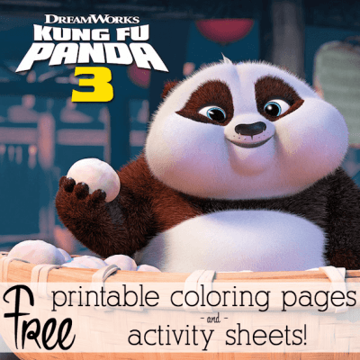 KUNG FU PANDA 3 Printable Coloring Pages and Activity Sheets!