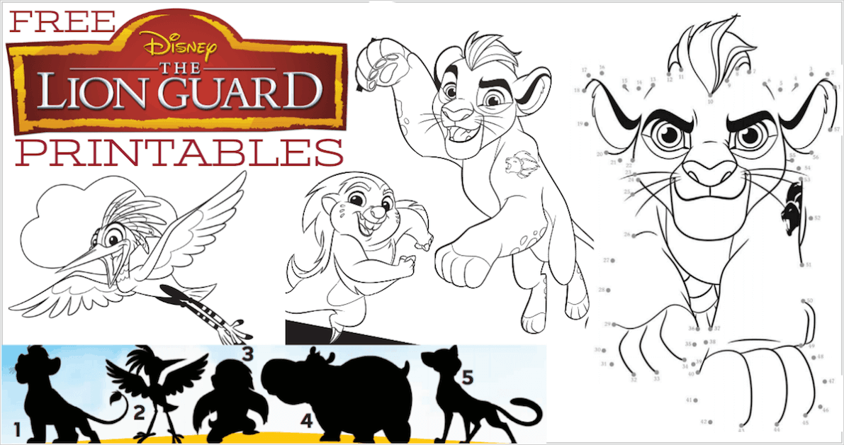 ... helping Disney spread the word with free The Lion Guard printables