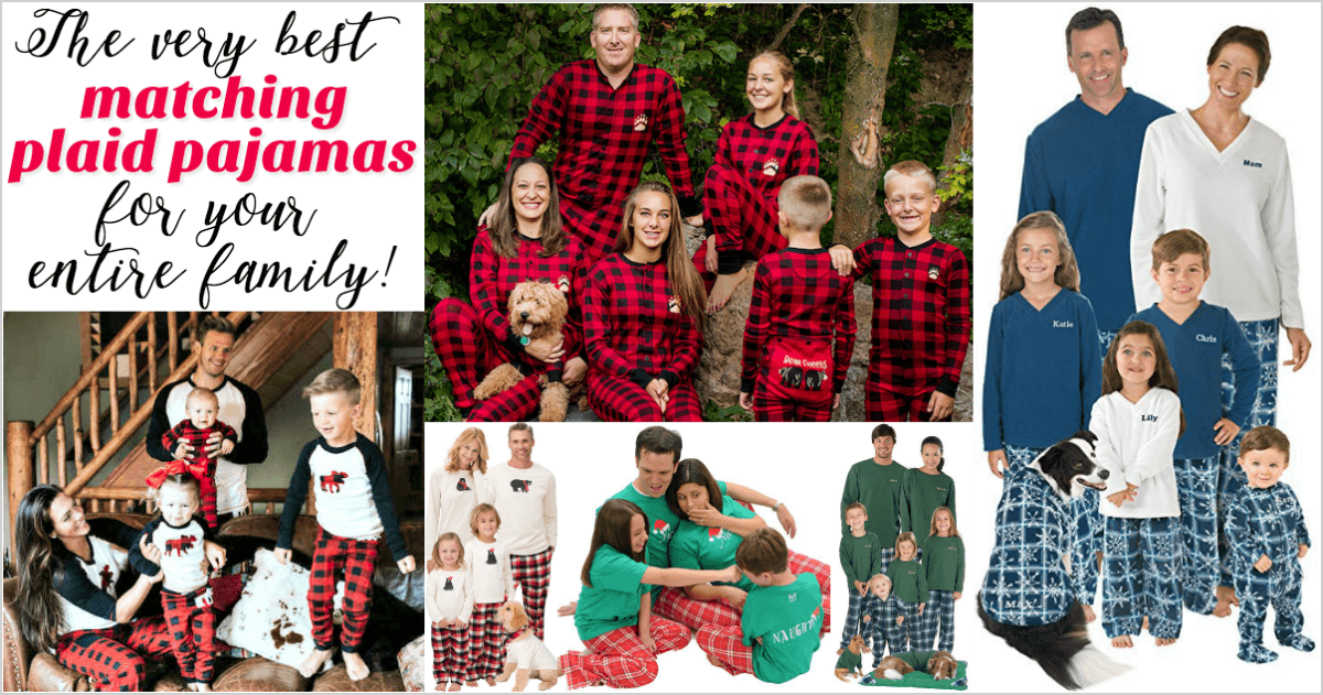 plaid family pajamas