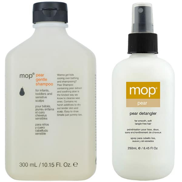 mop pear shampoo and mop pear detangler