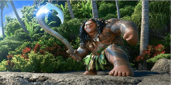 the rock in Moana