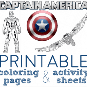 captain america coloring pages and activity sheets