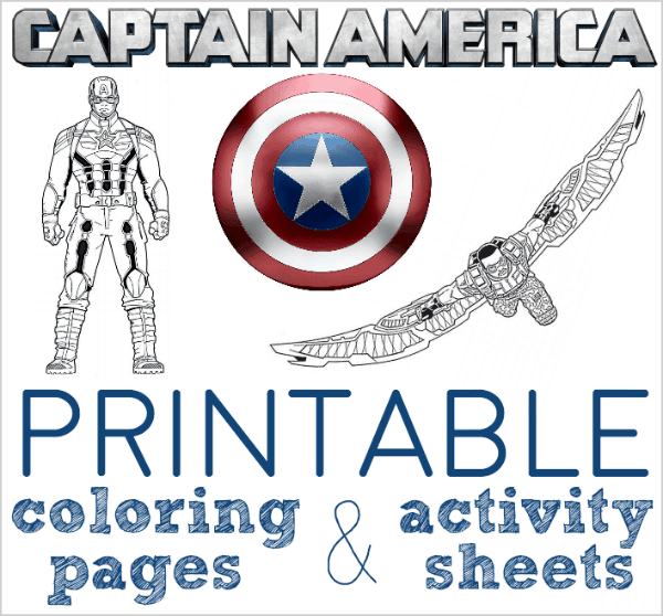 Free Printable Captain America Coloring Pages And Activity Sheets