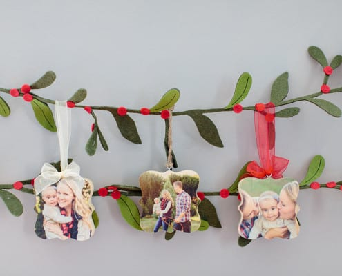 custom wooden photo ornaments