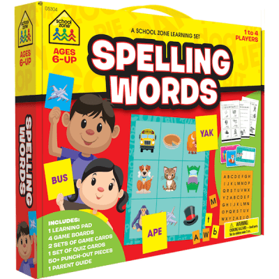 school zone spelling words learning set