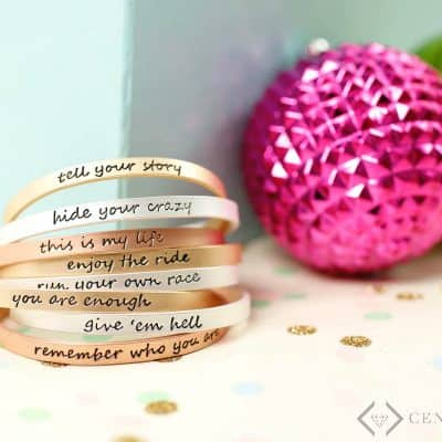 Inspirational Script Tribe Bracelets: $11.99 with Free Shipping