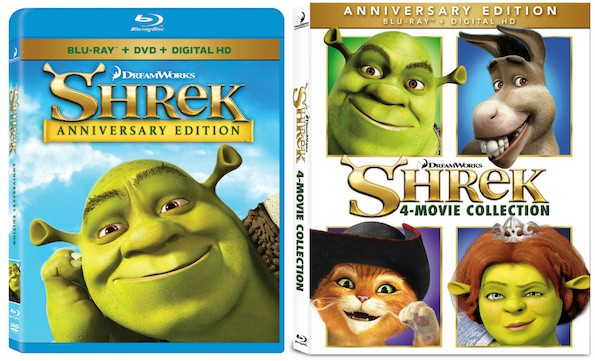 Shrek anniversary 4 movie collection