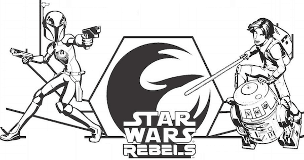 Tar Wars Rebels Coloring Pages And Activity Sheets