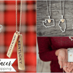 State Necklaces in Silver or Gold 2 for $20 with Free Shipping