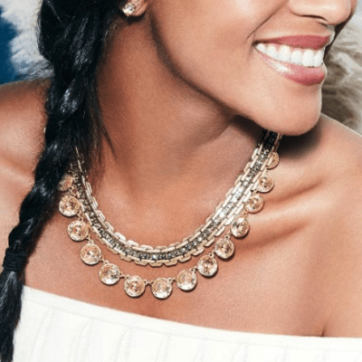 Stella and dot layered necklaces