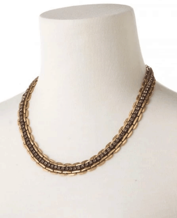 stella and dot jolie sparkle chain link necklace