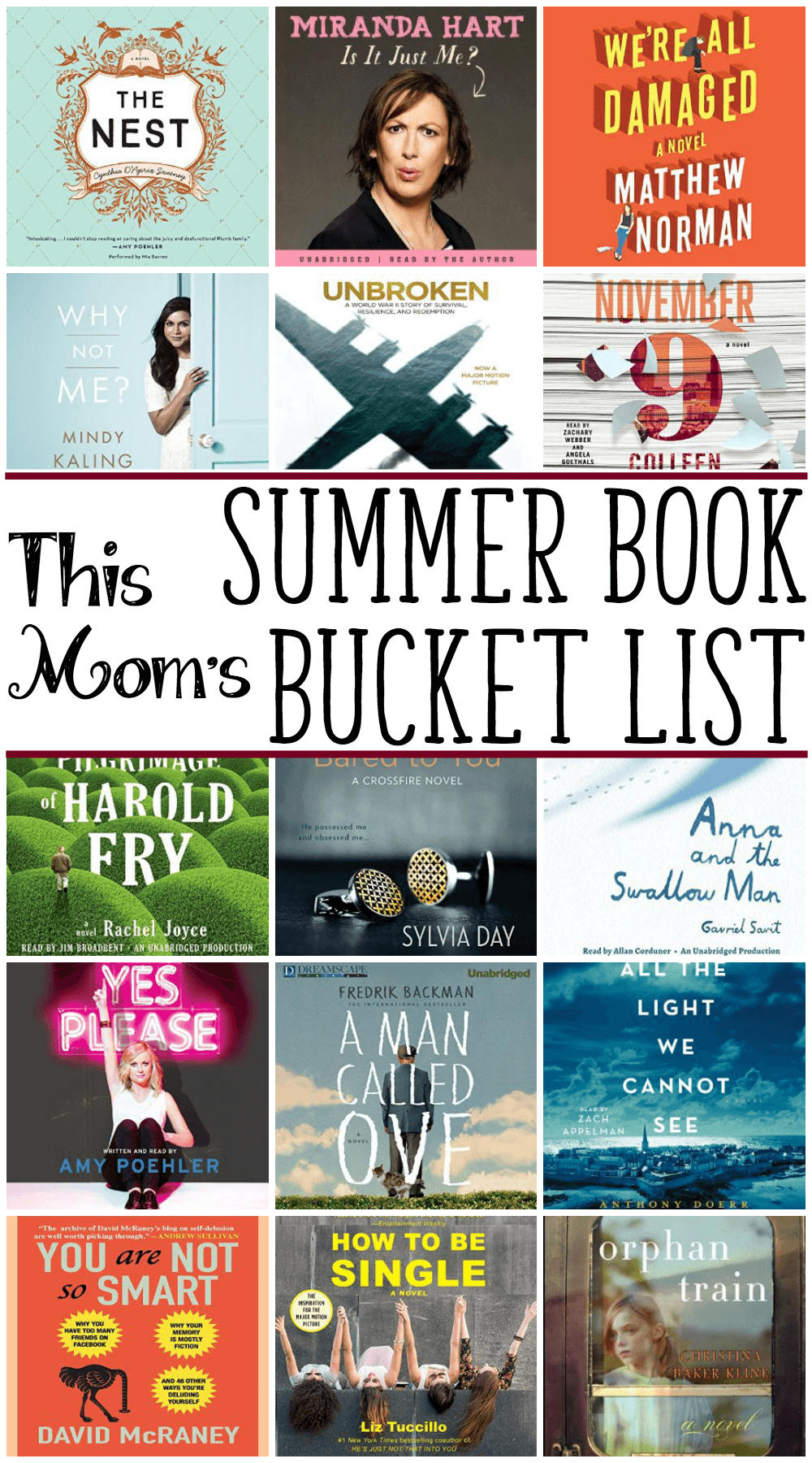 summer reading bucket list