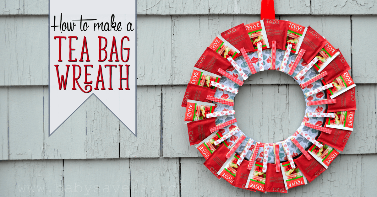 diy tea bag wreath