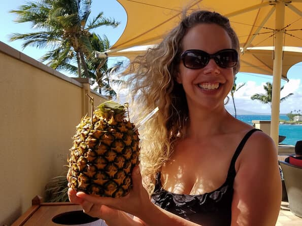pineapple drink at the four seasons maui